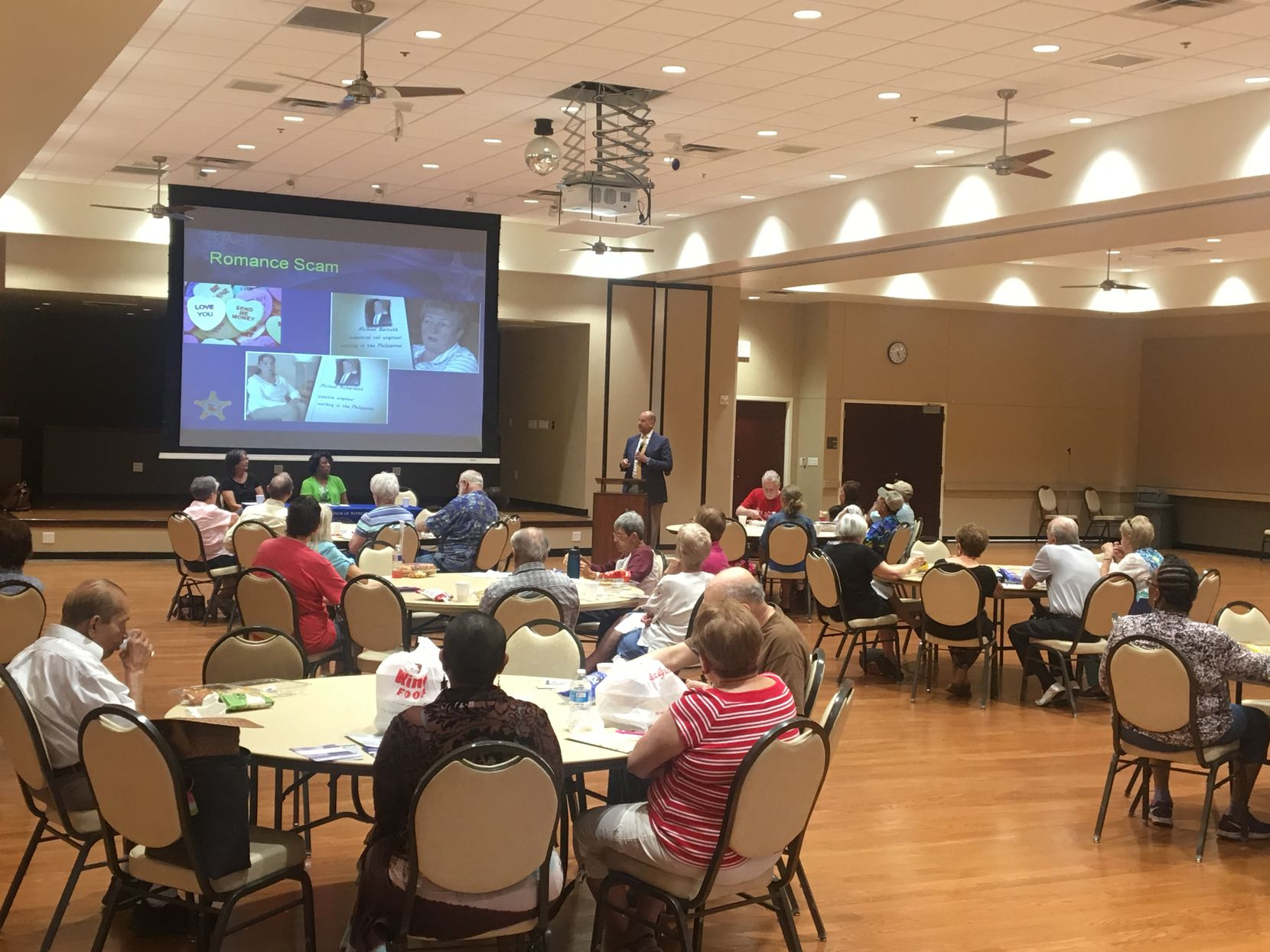 Carrollton seniors attended an ID theft forum hosted by U.S. Rep. Kenny Marchant, but he didn't attend.