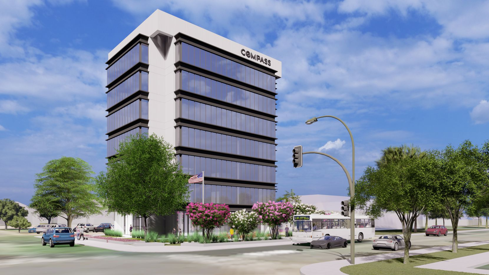 The Gaston Avenue building is being redeveloped by Larkspur Capital.