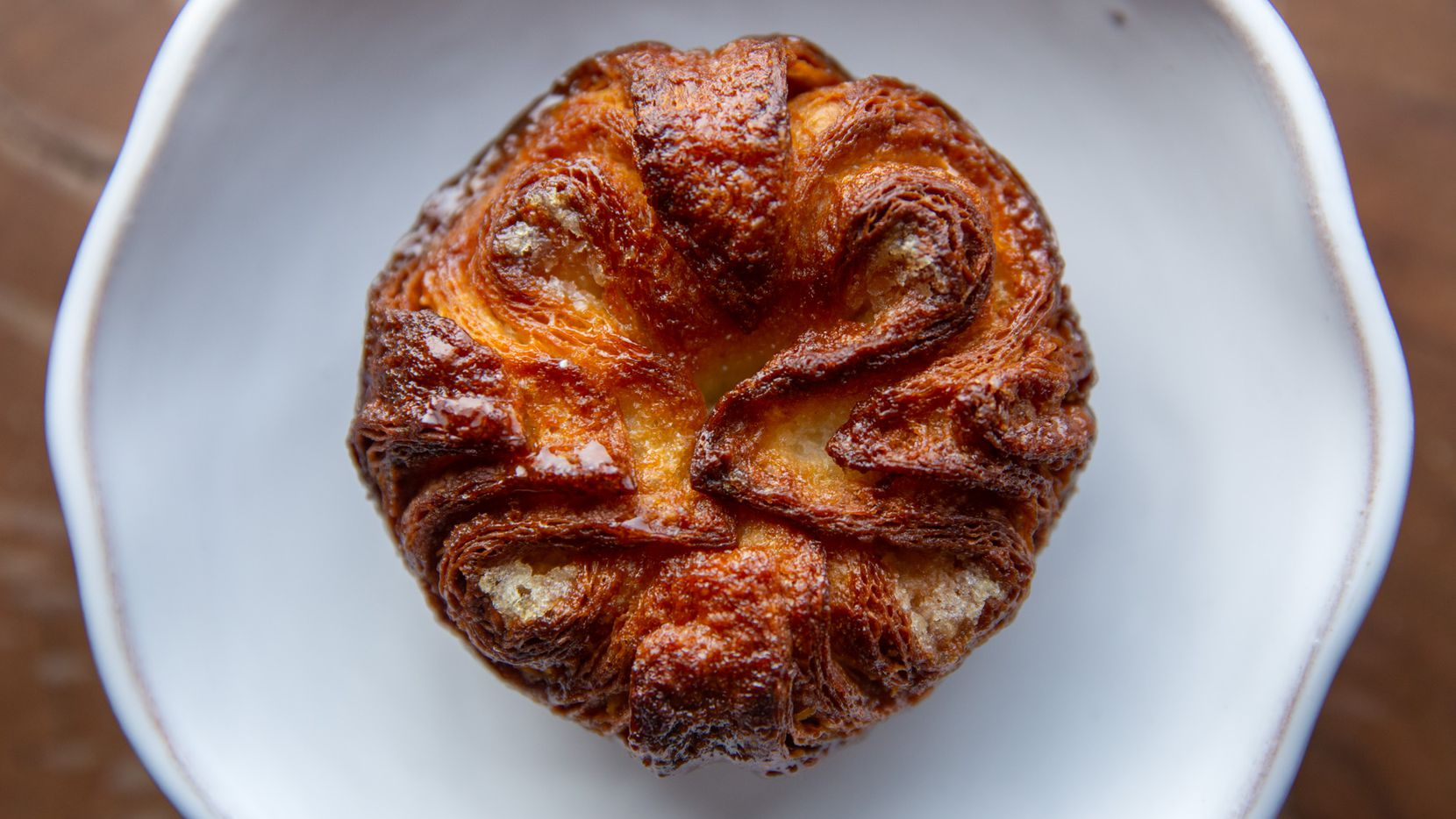 A kouign-amann pastry cooked by Matt Bresnan of Bresnan Bread and Pastry