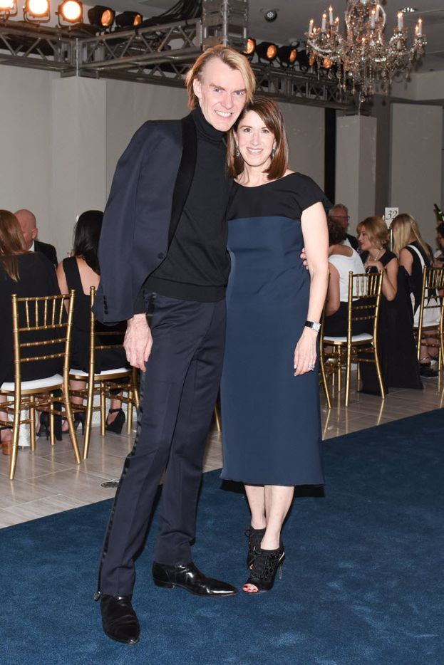 Ken Downing, Karen Katz at the Black-tie gala celebrating the 50th Anniversary of Neiman Marcus NorthPark and NorthPark Center October 28, 2015. Photograph by Owen Kolasinski/Courtesy Neiman Marcus NorthPark.