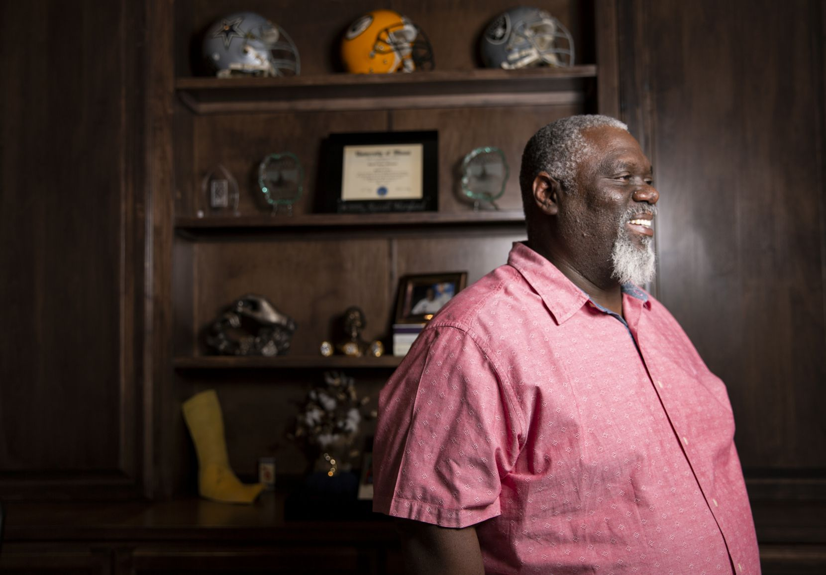 Former Cowboys defensive tackle Russell Maryland poses for a photo at his home in Southlake on Monday, Oct. 26, 2020.