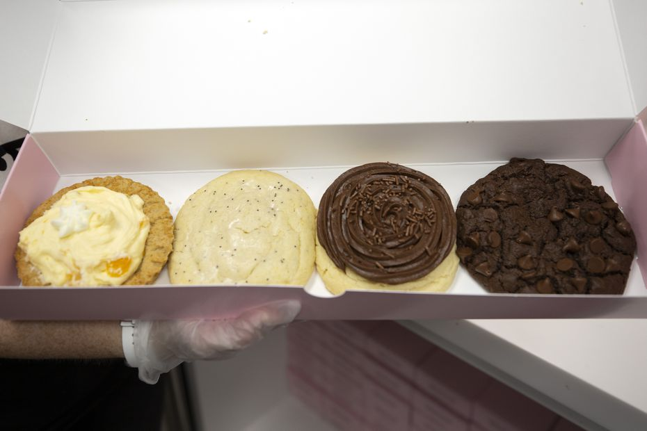 Most Crumbl customers get the four-cookie box. It's a great way to sample most of the six cookies in a given week.