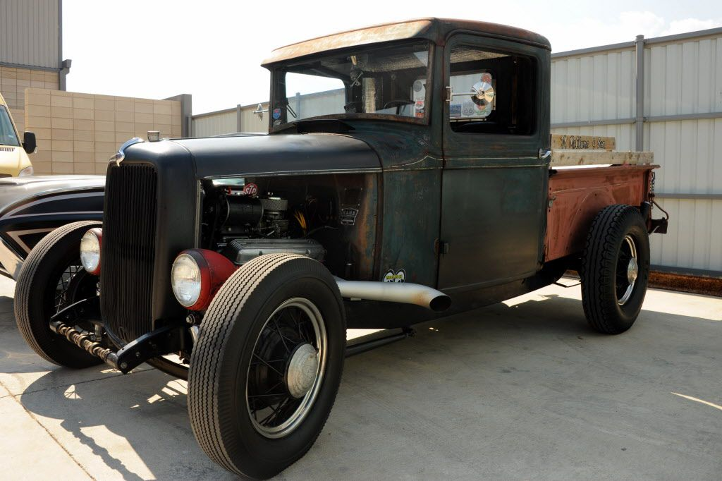 A rat-rod Ford Model T is on display at the custom car show at Texas Ale Project in Dallas, TX on August 15, 2015.
