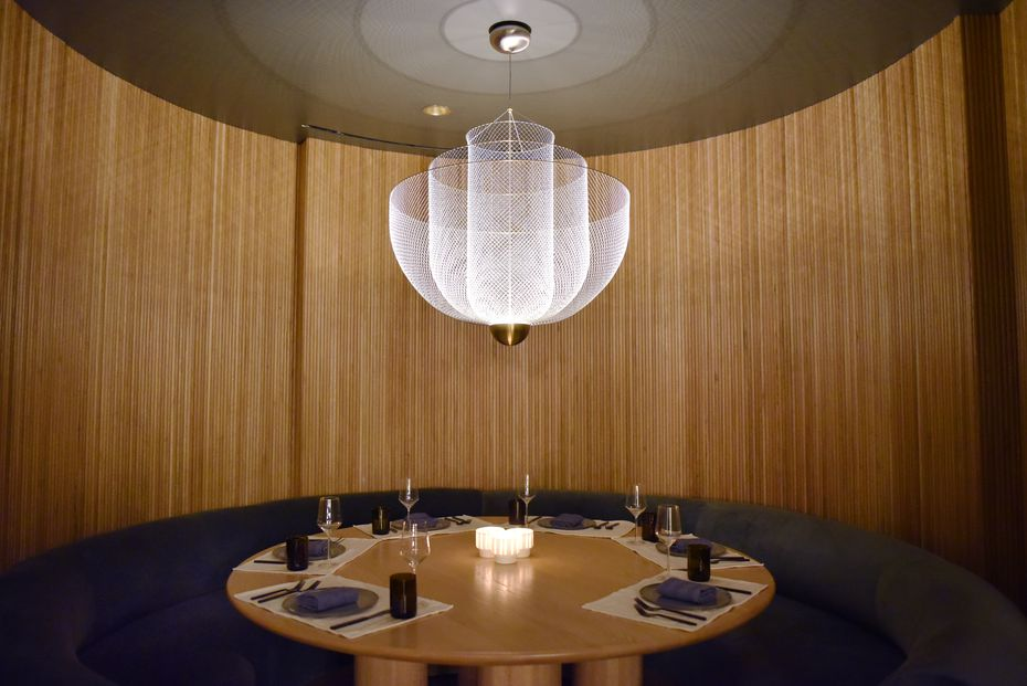 This circular booth in a corner of Commons Club seems right for a power lunch.