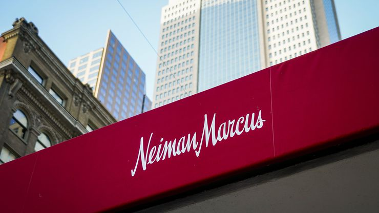 Exterior view of the Neiman Marcus store on Main Street in downtown Dallas.