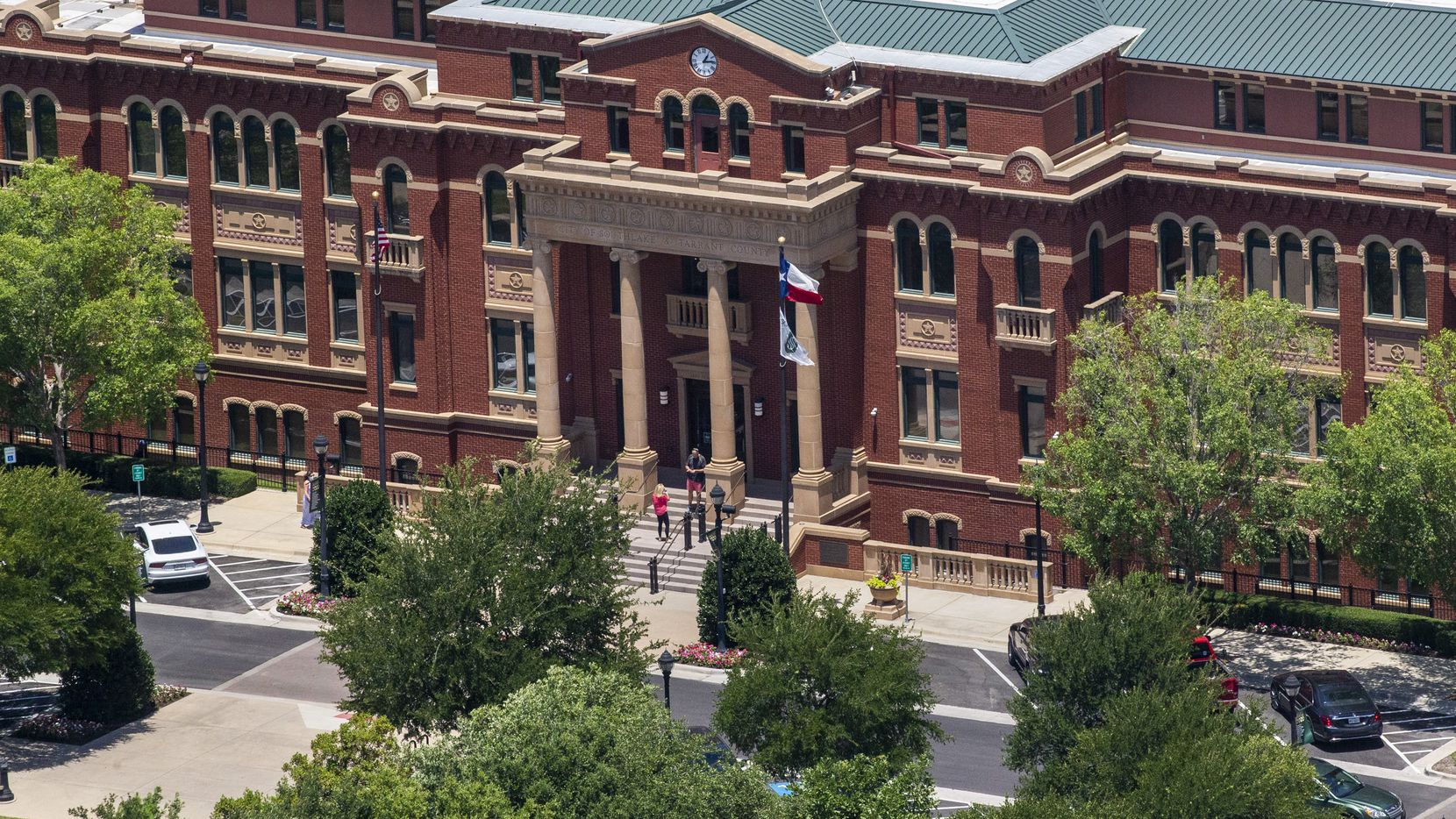 The City of Southlake and Tarrant County building in Southlake Town Square in Southlake, Texas, on Thursday, June 18, 2020. (Lynda M. Gonzalez/The Dallas Morning News)