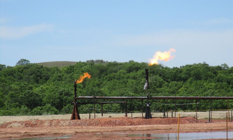 Gas flaring is a wasteful practice. One Frisco company has found a better solution. (U.S. Interior Department)