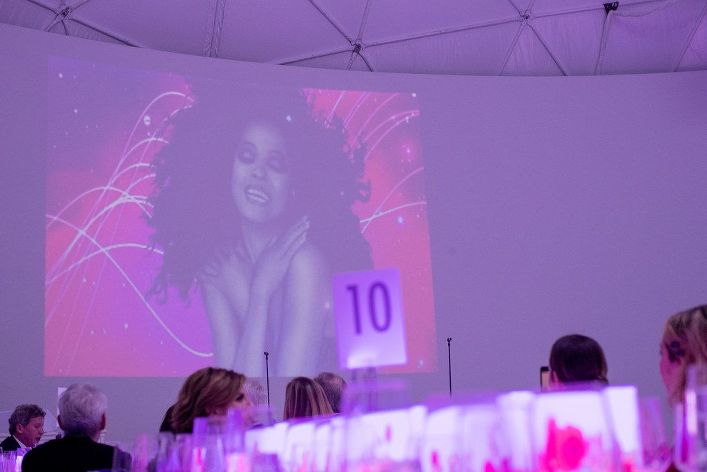 Diana Ross performed at the TWO x TWO for AIDS and Arts event, held at the Rachofsky House in Dallas on October 27, 2018. Photo by Kevin Tachman.