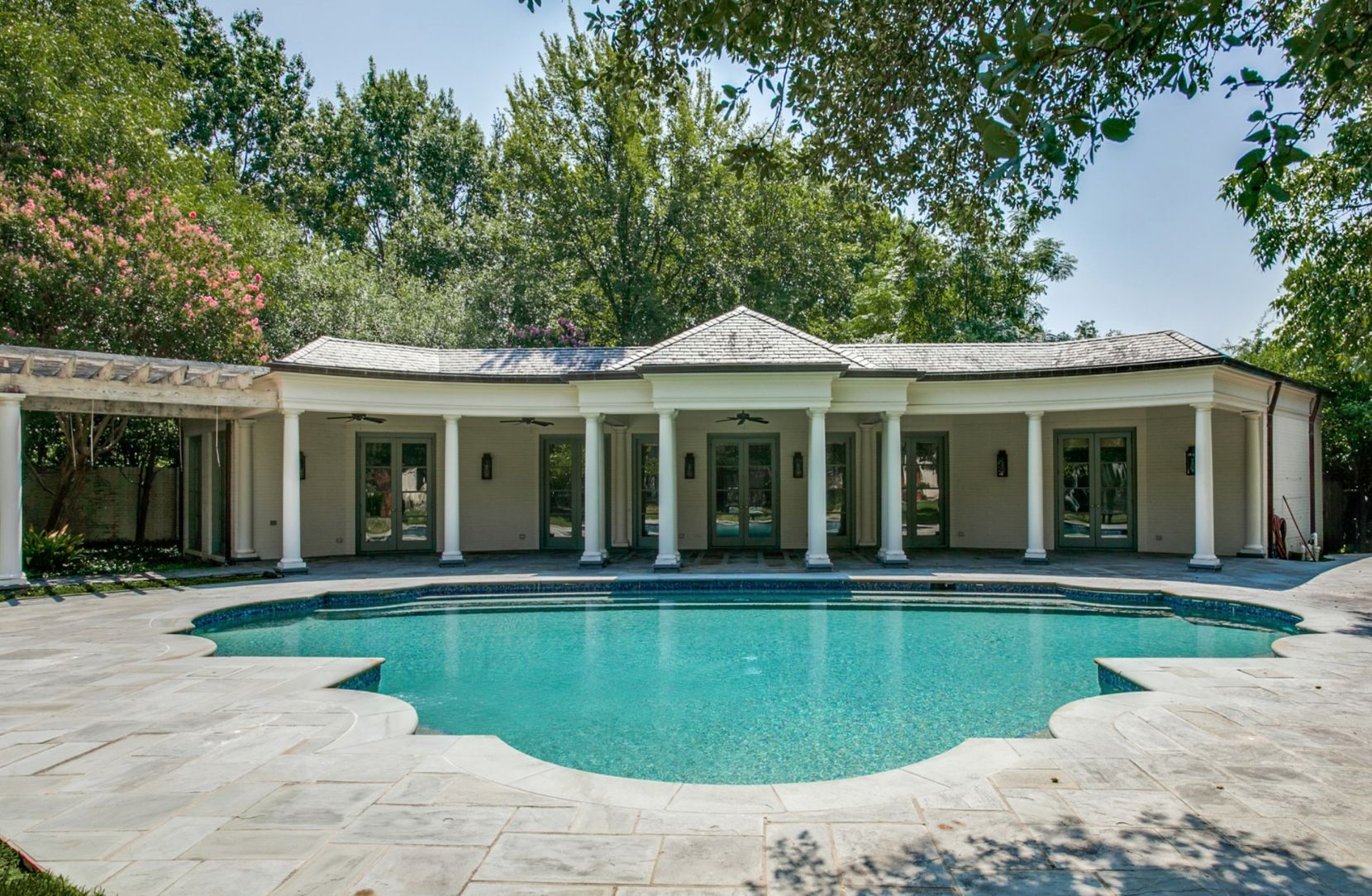 The Preston Hollow home is on more than 2.5 acres.