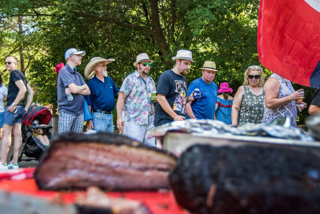 You will wait in line at Birthright BBQ; that's part of it. But Dallas Heritage Village has a surprising amount of shade.