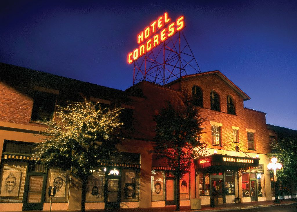 The Hotel Congress is a trendy spot in downtown Tucson with a fine patio and a retro-style lobby.