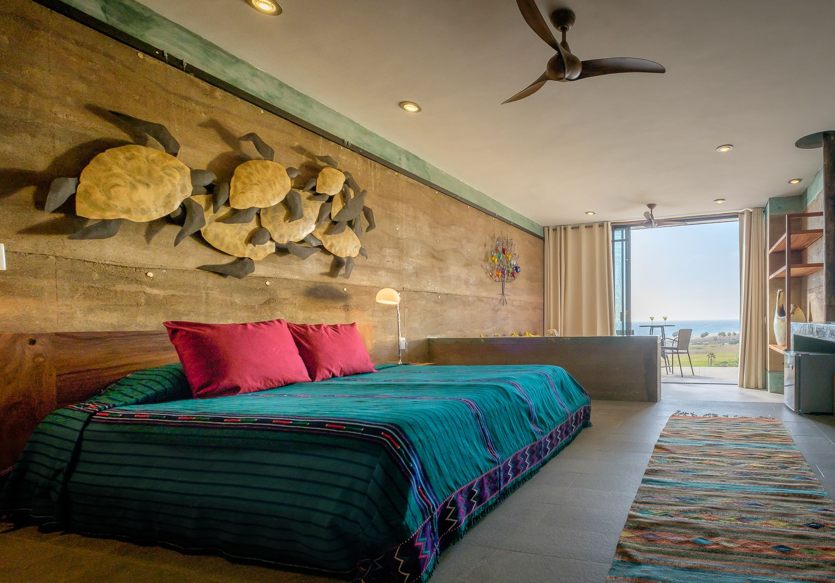 Los Colibris Casitas is a verdant hillside property with ocean views and six guest units with kitchens.