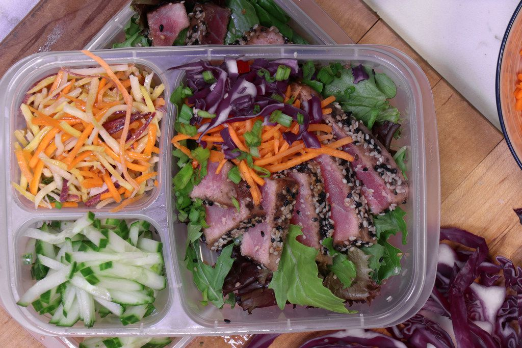 Seared Ahi bento box