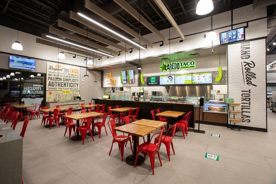 The Laredo Taco Company restaurant inside 7-Eleven's new test store opened in Dallas in 2020.