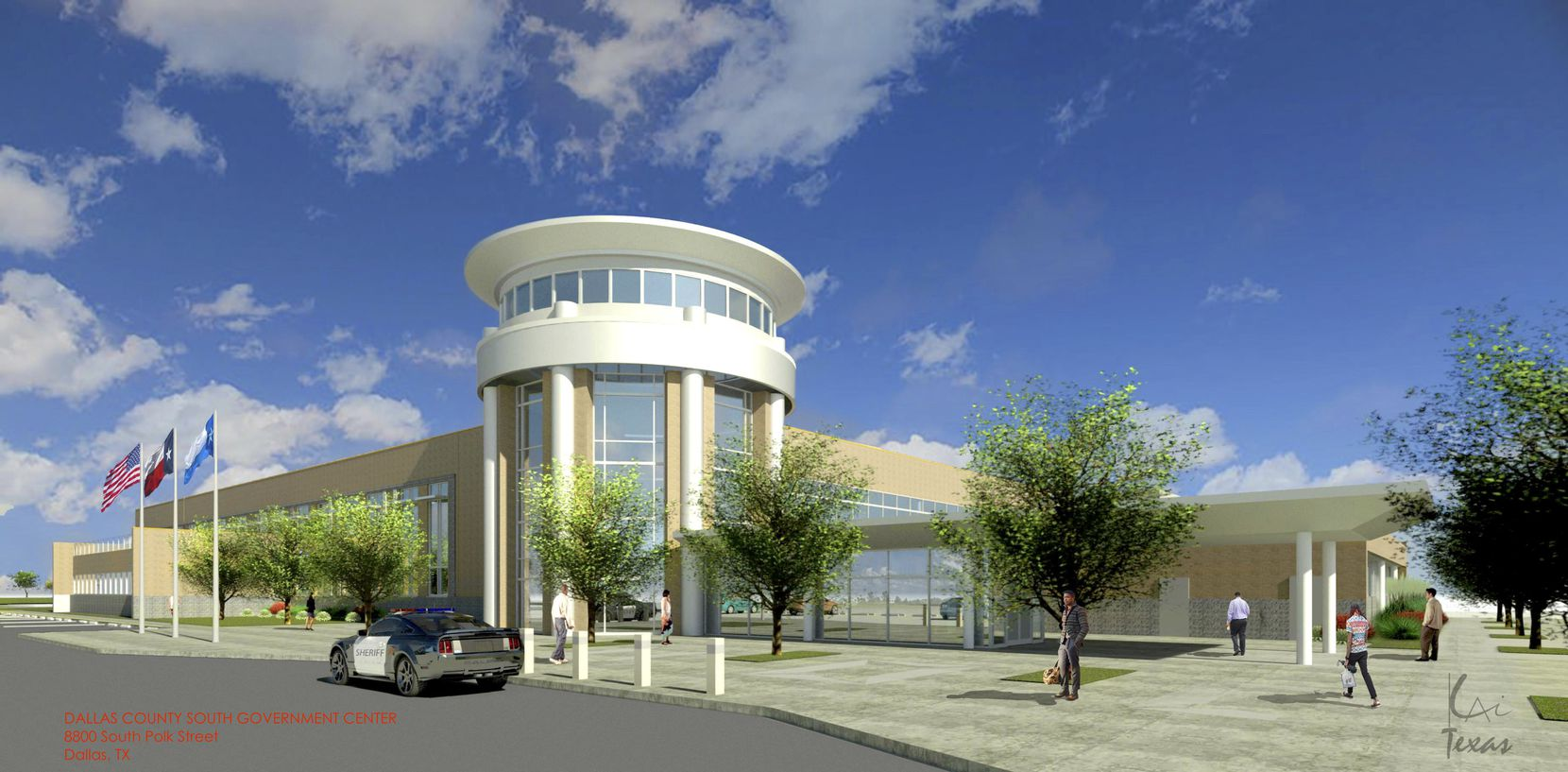 Dallas County offices will occupy a new building on South Polk Street near Interstate 20.