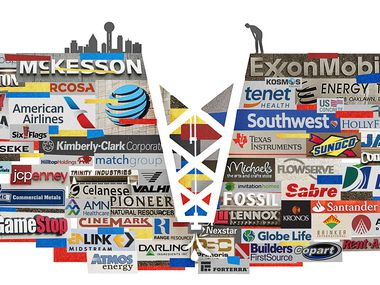 Big oil's downturn could result in a new leader next year in Dallas-Fort Worth's ranking of largest public companies.