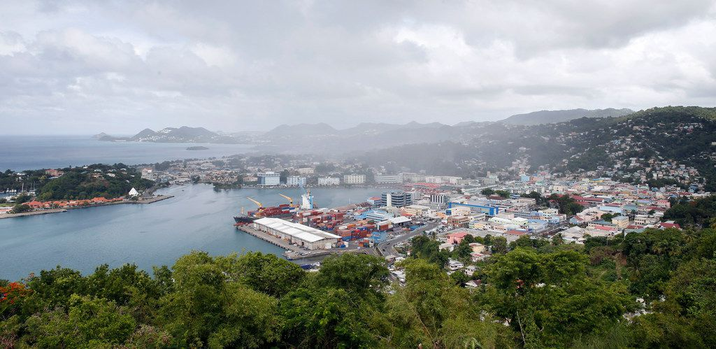View of Castries, St. Lucia, in  September 2018.