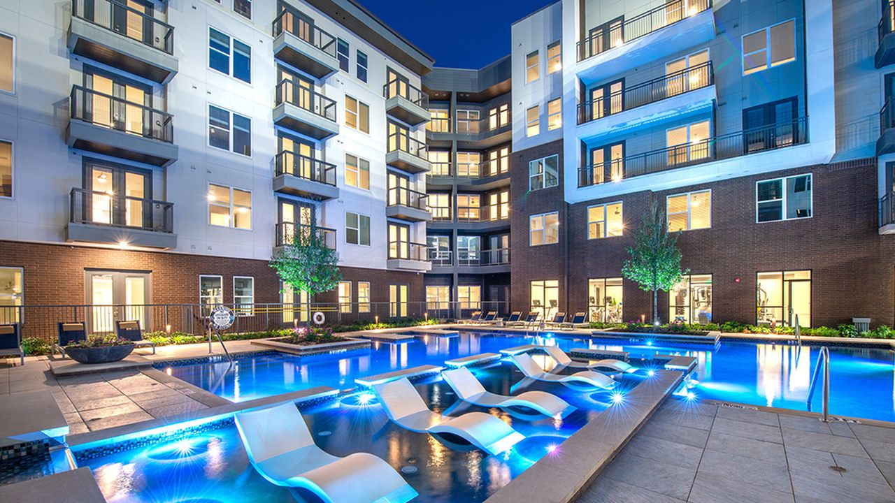 The Modera Hall Street apartments opened in 2016 near Ross Avenue.