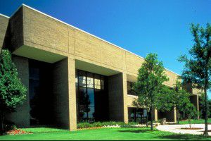 One of the buildings on TI's Spring Creek campus in Plano. (Courtesy of Texas Instruments Inc.)