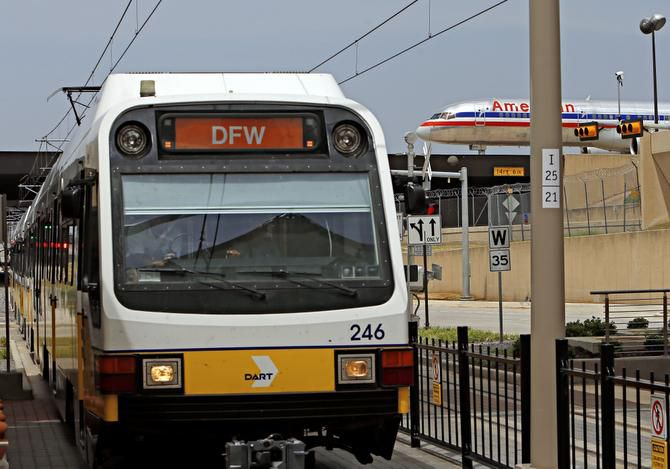 DART's Orange Line arrived at Dallas/Fort Worth International Airport in August.
