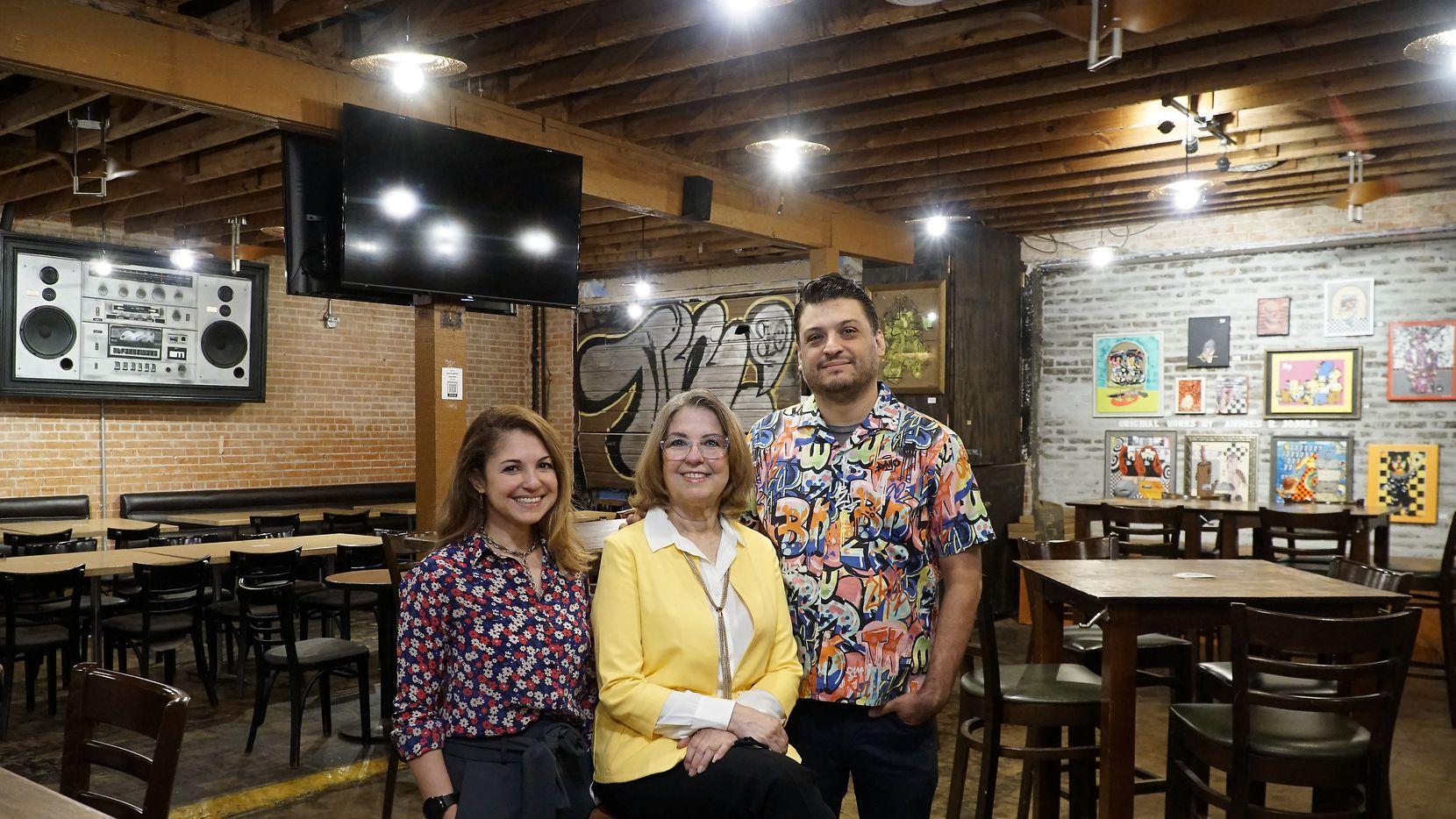 Strangeways owners Rosie Ildemaro, Eric Sanchez, and their mom, Yolanda Sanchez