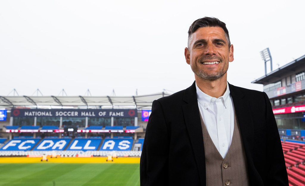 Luchi Gonzalez, the new head coach of FC Dallas, poses for a portrait on Wednesday, February 27, 2019 at Toyota Stadium in Frisco. (Ashley Landis/The Dallas Morning News)
