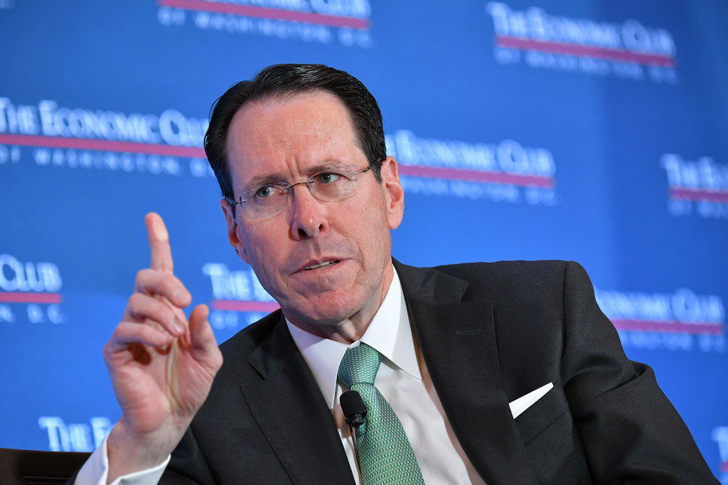 """AT&T CEO Randall Stephenson on Wednesday said that """"too much of our success and failure is dependent upon what the people"""" in Washington """"decide to do on a day-to-day basis."""""""