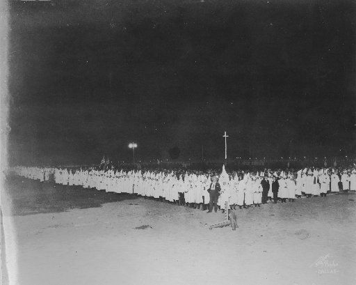 A Ku Klux Klan gathering at the Texas State Fair in 1923.