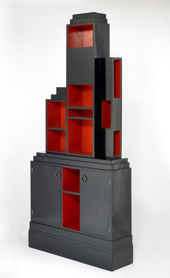 Paul T. Frankl, Skyscraper bookcase, circa 1926, lacquered wood and brass