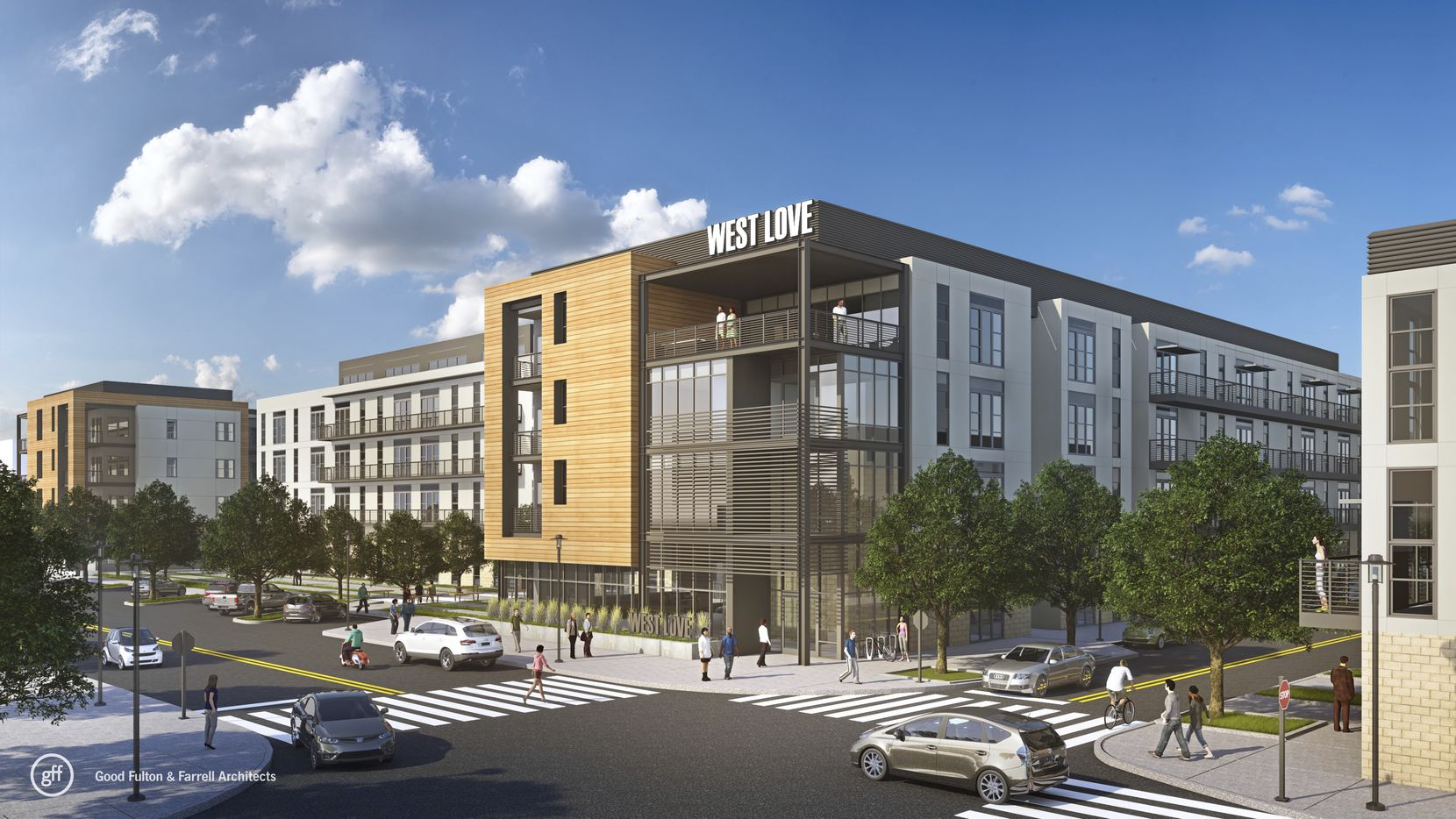 Apartment builder JPI plans to develop hundreds of rental units in the 37-acre West Love mixed-use project near Dallas Love Field.