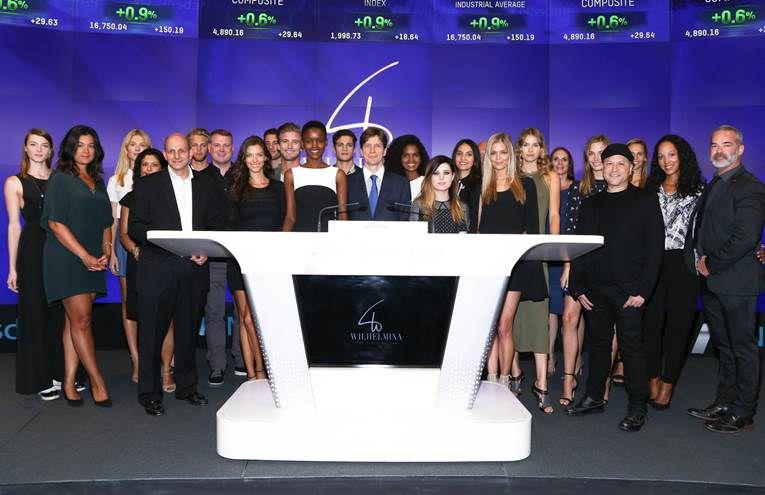 Mark Schwarz and other executives of Wilhelmina International Inc. rang Nasdaq's closing bell on September 16, 2015.