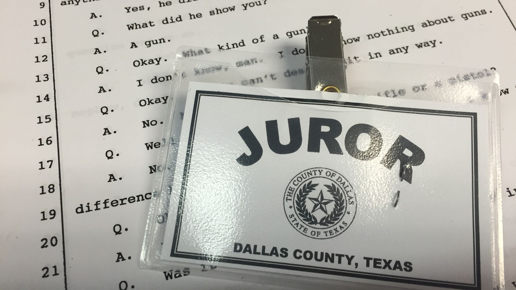 I was shocked when I was picked to serve on a capital murder trial in Dallas County. As a reporter who has written about trials, crime and what happens behind the scenes at the courthouse, I thought I'd never have the opportunity. Too many people don't want to serve and either don't show up or try to get out of jury duty once they do appear. Some have genuine reasons for why they can't serve. An unwillingness to serve means juries aren't as diverse as the should be in terms of race and socioeconomics.
