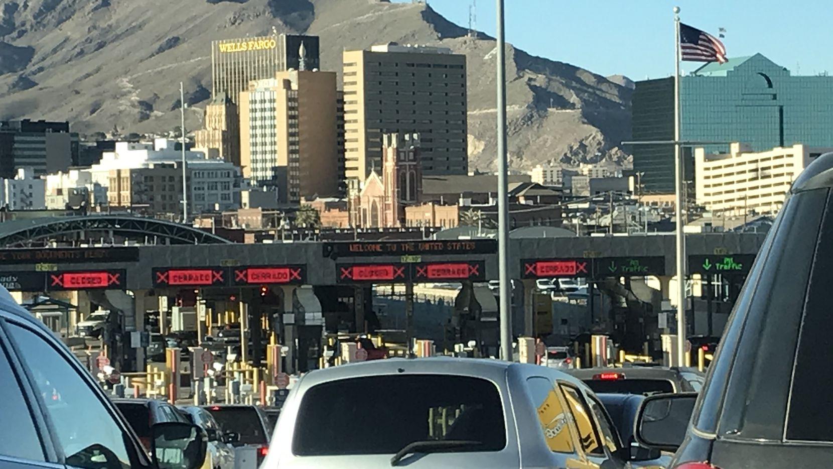 General view of the area near the Ciudad Juarez - El Paso border.