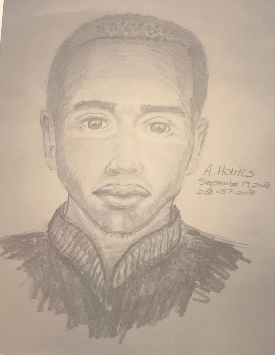 Police sketch of a suspect in two aggravated sexual assaults in Far North Dallas. Police believe the same man sexually assaulted a third woman in northeast Dallas on Oct. 30.