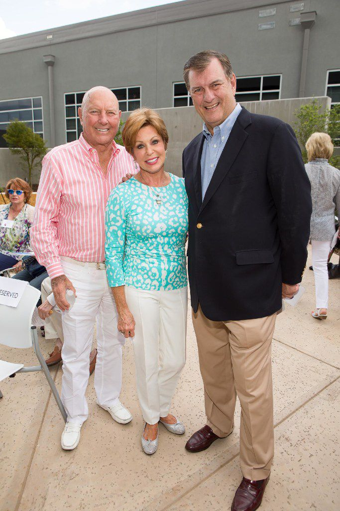 From left: Mike and Sammye Myers and and Mayor Mike Rawlings attended the opening of Ann Moody Place on June 4.
