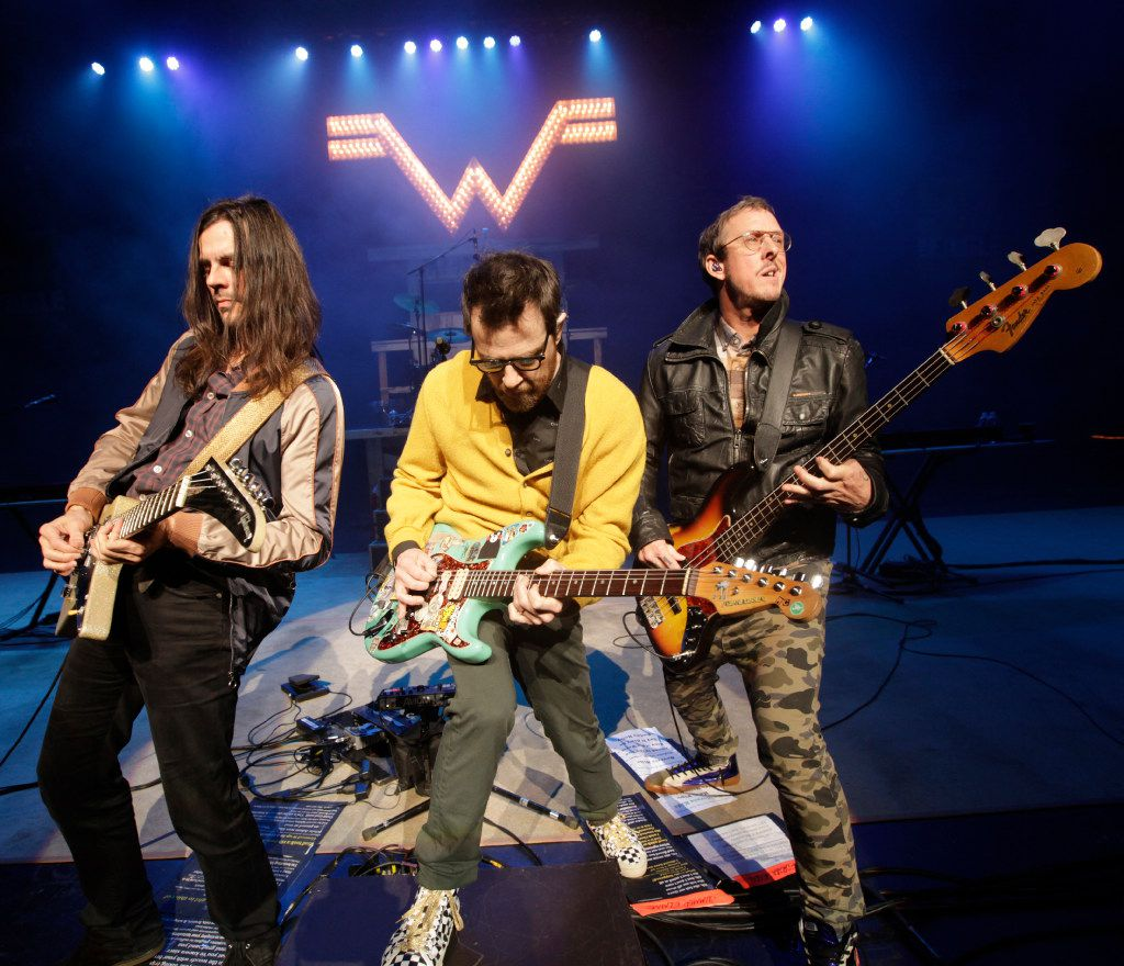 "Weezer performs during the ""How The EDGE Stole Christmas"" show at Verizon Theatre in Grand Prairie, TX, on Dec. 6, 2016."