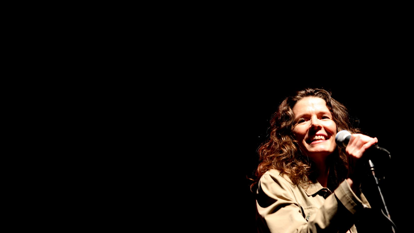 In this Oct. 25, 2014 file photo, Edie Brickell performs at the 3rd annual North Oak Cliff Music Festival held at Lake Cliff Park.