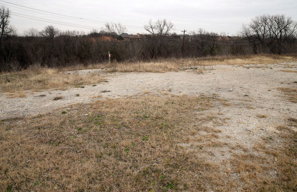 One of the areas in which a coyote was seen, at the northeast intersection of Preston Road and Eldorado Parkway in Frisco, Texas on Tuesday, January 15, 2019.