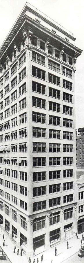 """The Praetorian Building (in this undated photo) opened in 1909. At the time, its 15 stories made it Dallas' tallest skyscraper — a title it held for only a few years. According to The Dallas Morning News on Feb. 28, 1909, it offered """"a fine view of the entire city."""""""