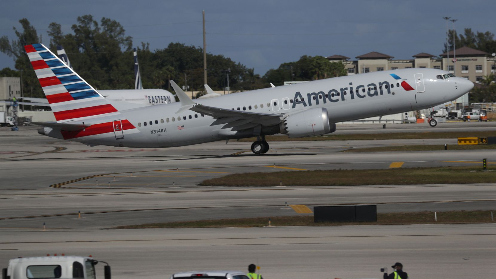 American Airlines flight 718, a Boeing 737 Max, took off Tuesday from Miami International Airport to New York. The Boeing 737 Max flew its first commercial flight since the aircraft was allowed to return to service nearly two years after being grounded worldwide following two crashes.