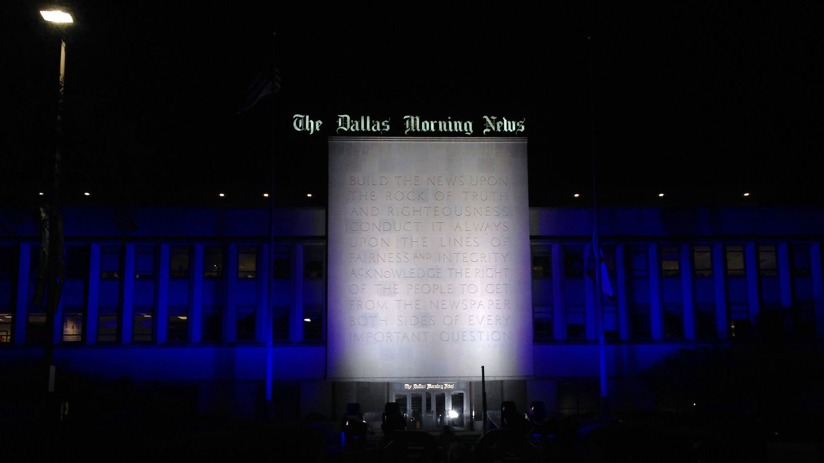 The Dallas Morning News' building on the southeast side of downtown Dallas opened in 1949.