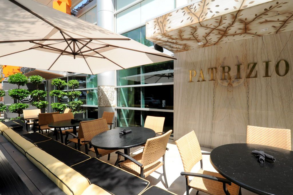 Open patio seating looks out on McKinney Avenue at Patrizio in Uptown.