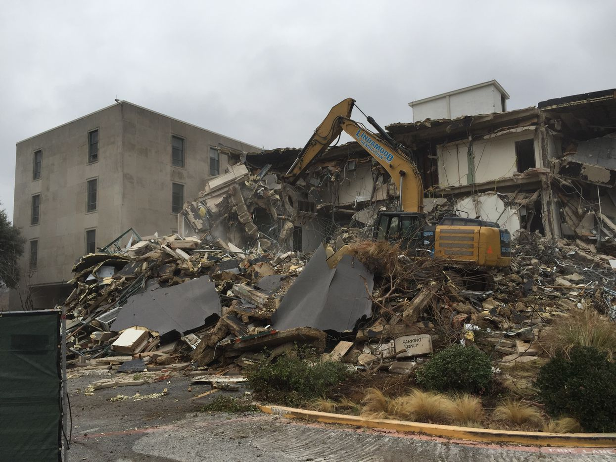 Most of the old school district offices were torn down in December and January.