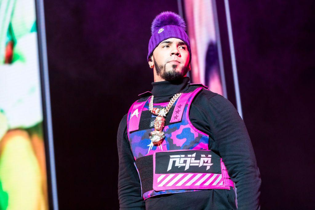 El rapero Anuel AA durante un evento en enero de 2020 en la T-Mobile Arena de Las Vegas, Nevada.