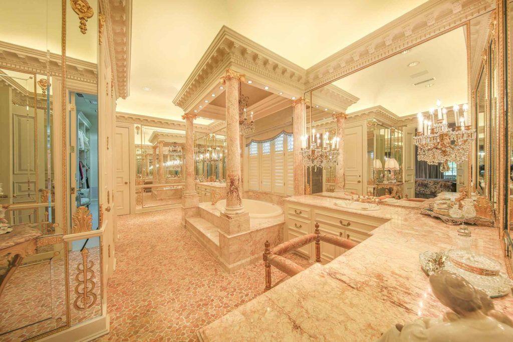 A grand bathroom in the Pilgrim estate.