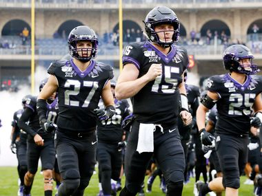 TCU Horned Frogs quarterback Max Duggan (15) needs every practice rep he can as he continues to improve from his freshman season. (Tom Fox/The Dallas Morning News)