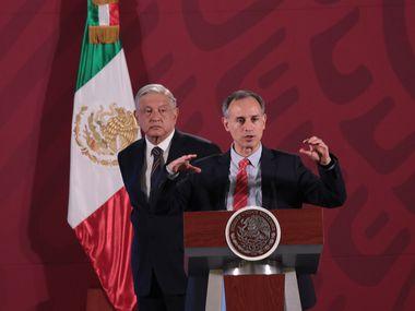 Hugo López-Gatell, subsecretario de prevención y promoción de la salud de México, en conferencia de prensa.