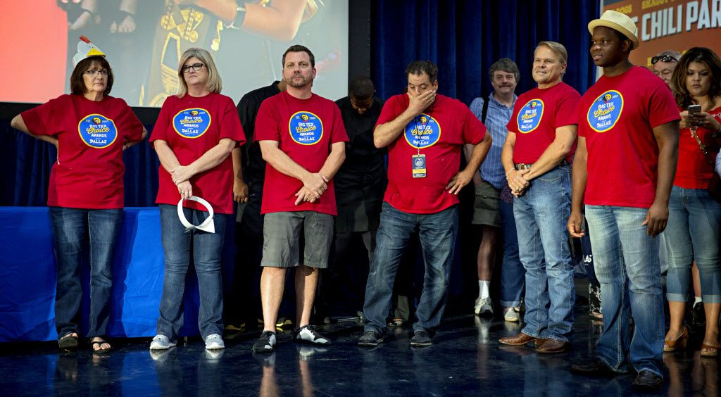 Contestants anxiously await results during the 2016 Big Tex Choice Awards Sunday, August 28, 2016 at Fair Park in Dallas. The annual event, held ahead of the State Fair of Texas, recognizes the best fried foods entered into consideration for sale at the fair. (G.J. McCarthy/The Dallas Morning News)