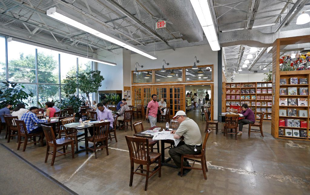 A cafe at the Half-Price Books store in Dallas, Friday, July 28, 2017.