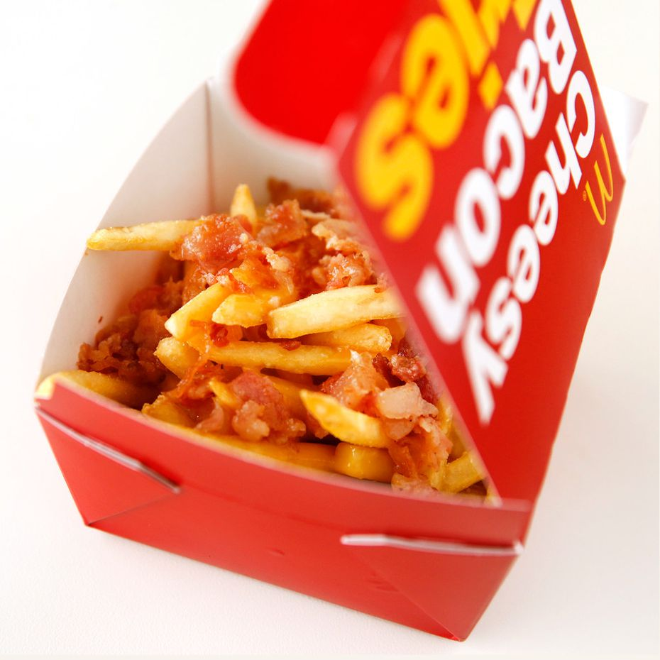 """Australia's Cheesy Bacon Fries are part of new """"worldwide"""" items being sold at McDonald's."""